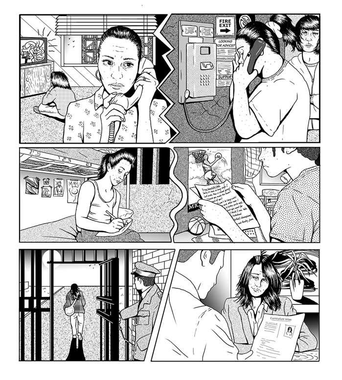 Comic Strip Of Prisoners & Homeless People