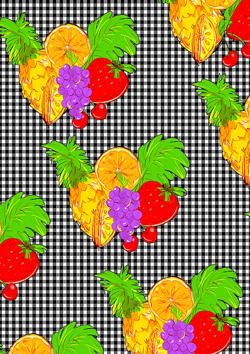 Fruity Fabric Design By Young Earl Grey