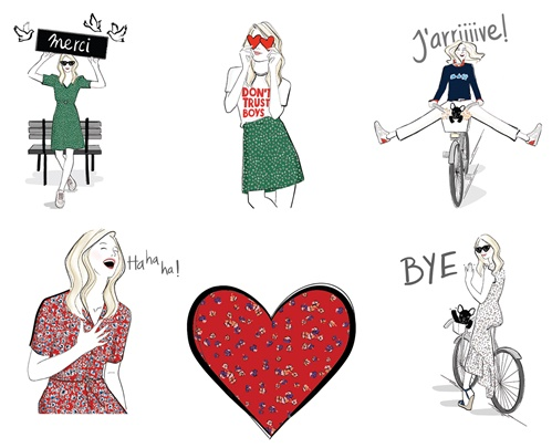 Claudie Pierlot's Capsule Collection Illustration