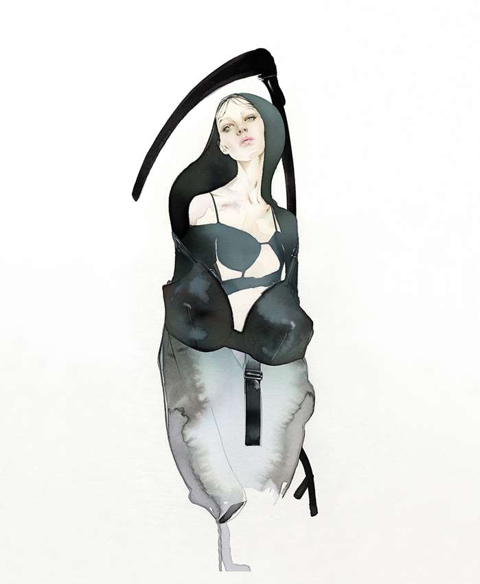 Female Grim Reaper Illustration For Vogue Portugal