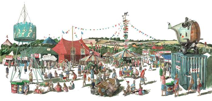 Glastonbury Festival Illustration For William Green Field