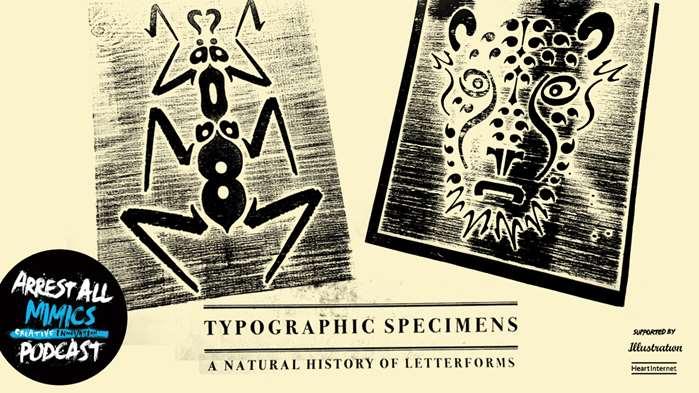 Podcast Arrest All Mimics: spécimens typographiques