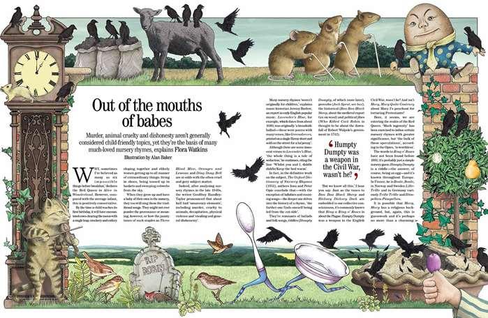 Fantastical double page illustration