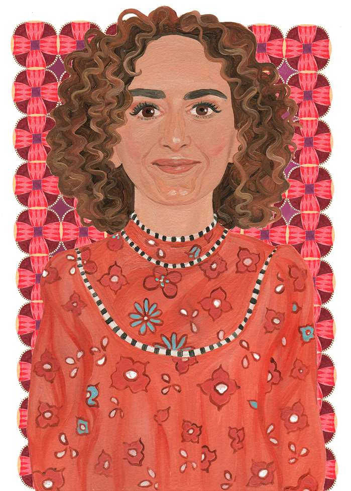 Decorative Portrait Of Leila Slimani