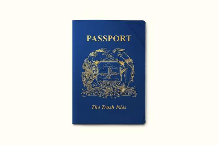 The Trash Isles Passport Logo Design