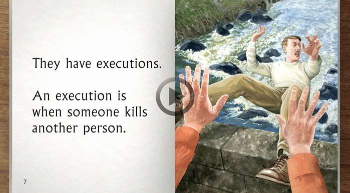 Murderous scenarios painting