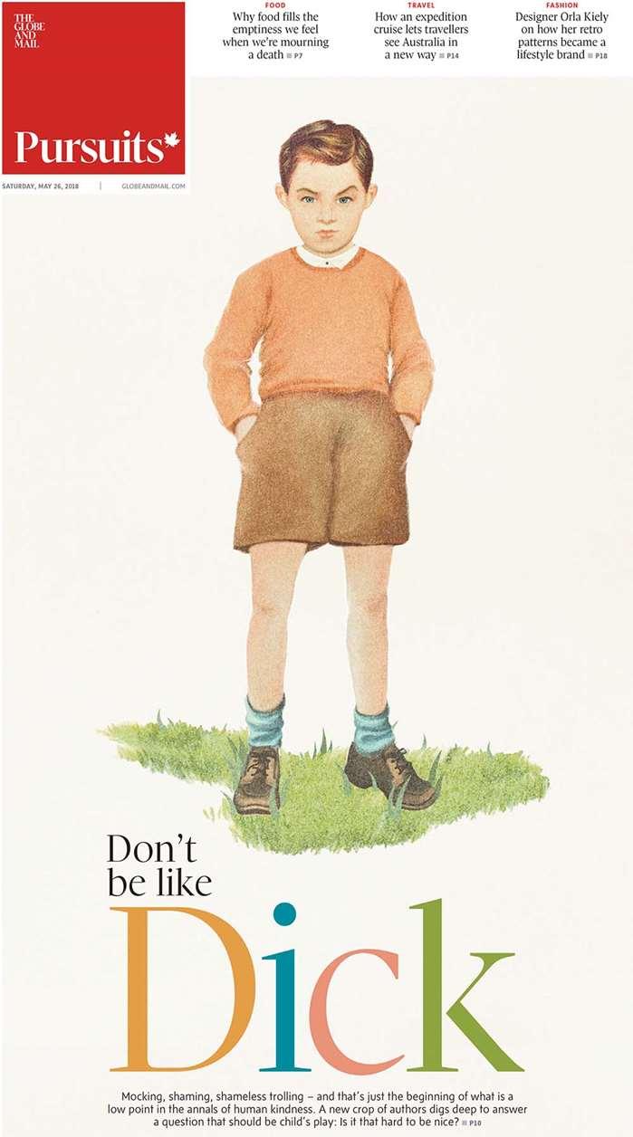 Vintage illustration of young boy
