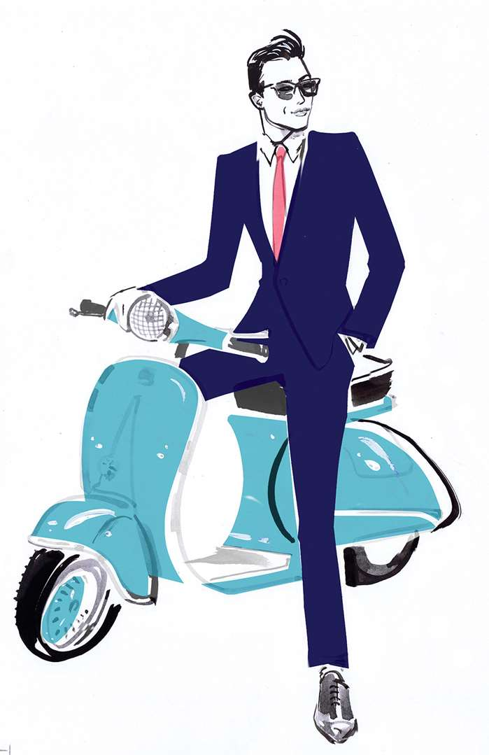 Attractive man fashion illustration