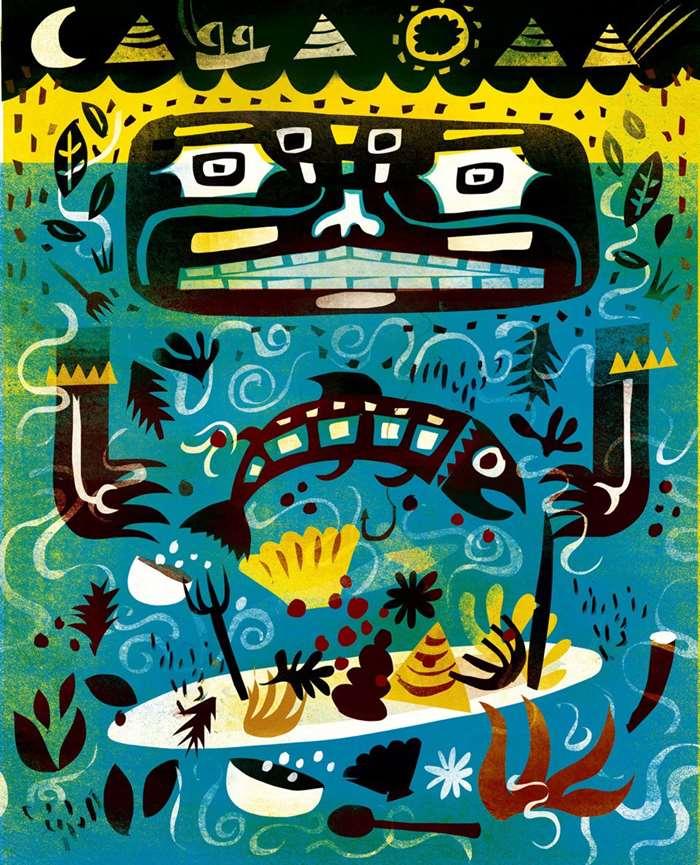 Decorative Illustration For The Salish Sea Diet