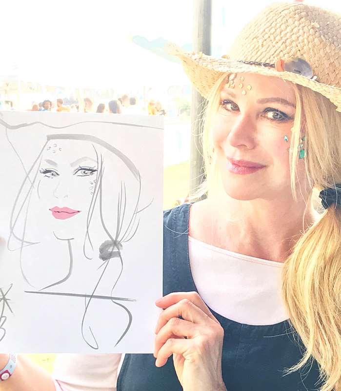 Portrait line art of a woman