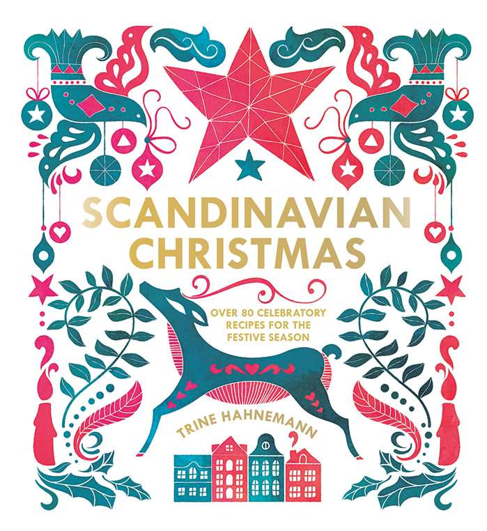 Front cover decorated with festive patterns and symbols