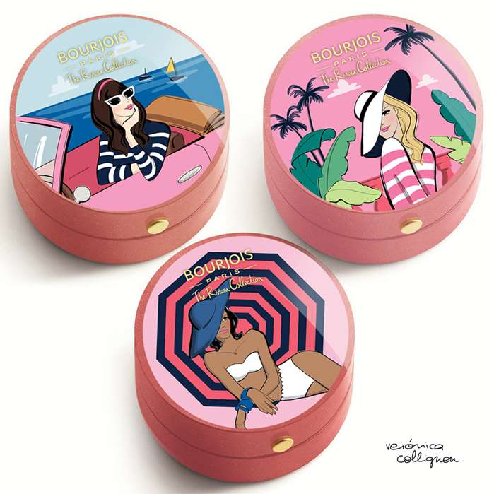 Beauty Cosmetics Illustration For Bourjois Blushes
