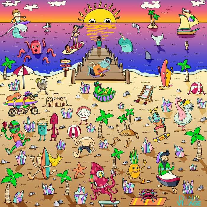 An Illustration For Beach Life