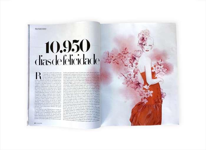 Floral Fashion illustration in Maxima Magzine