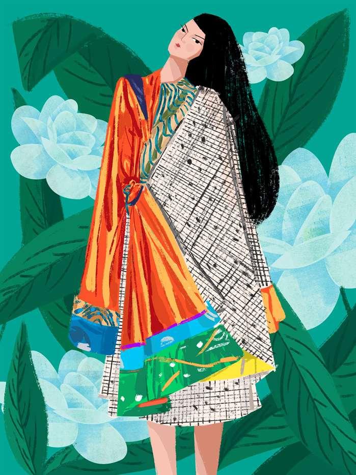 fashion illustration by Decue Wu