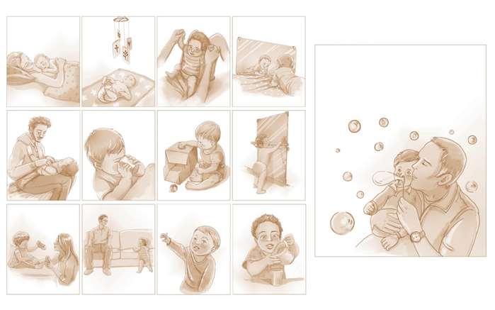 Illustraion of Baby's First Year Milestones