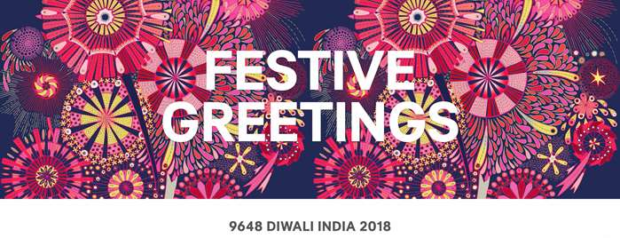 Diwali Greetings with lights and colors graphics