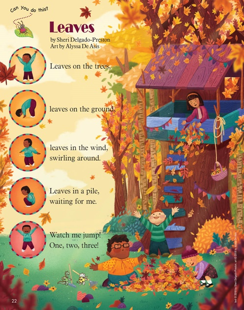 Autumn Leaves poem for kids by Alyssa De Asis