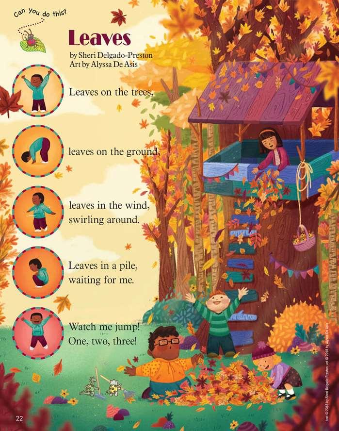 Autumn Leaves poem for kids by Alyssa De Asis