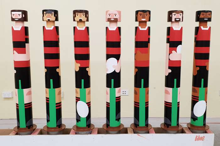 Painted artwork for Christchurch Airport Staff