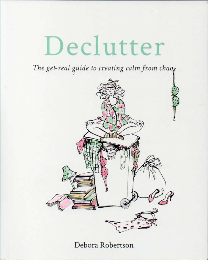 illustration of cover book of Declutter by Alyanna Cazlet