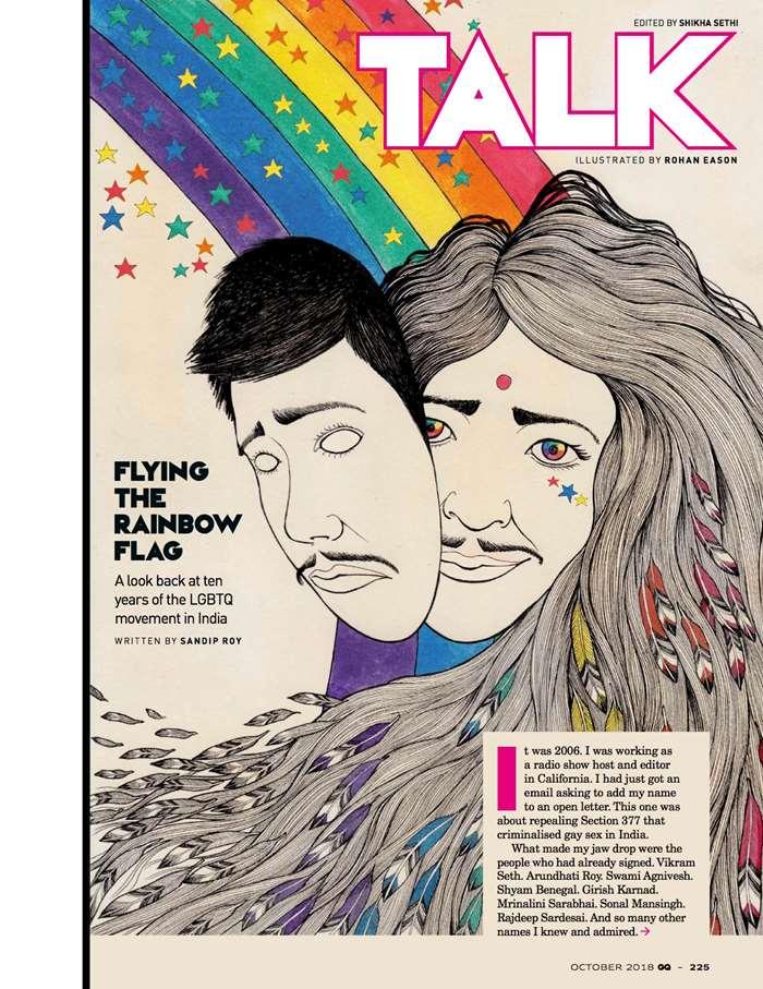 Drawing of 10 year GQ Magzine India anniversary