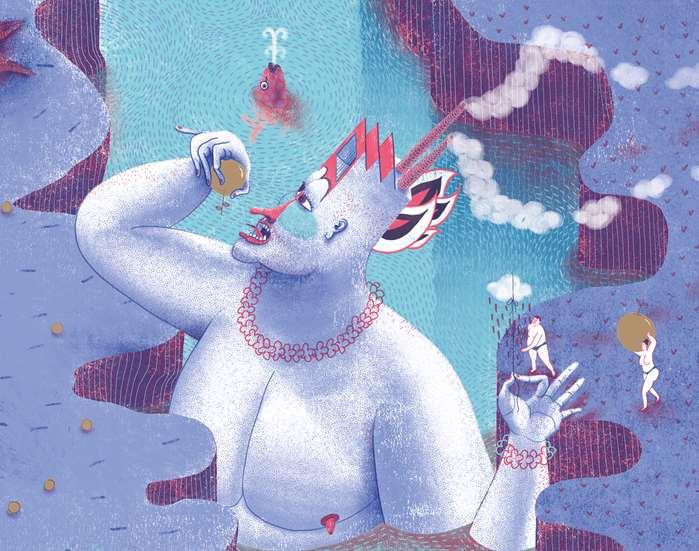 Fantasy illustration for book the god of money