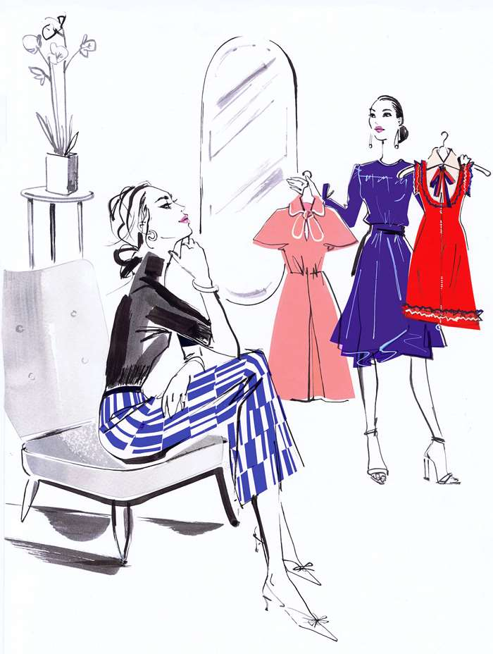Lifestyle illustration for luxury online retailer