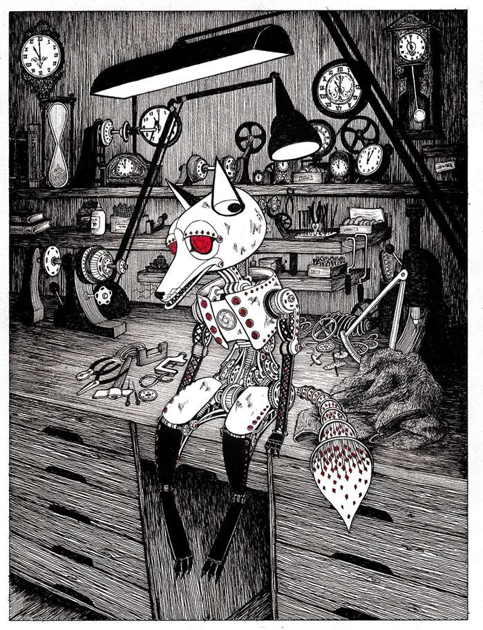 front cover of Vivian and the Jewelled Fox robotic character