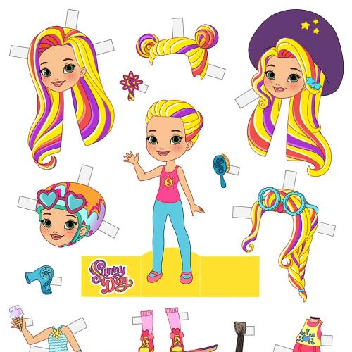 Sunny Day Paper Doll for Nick Jr