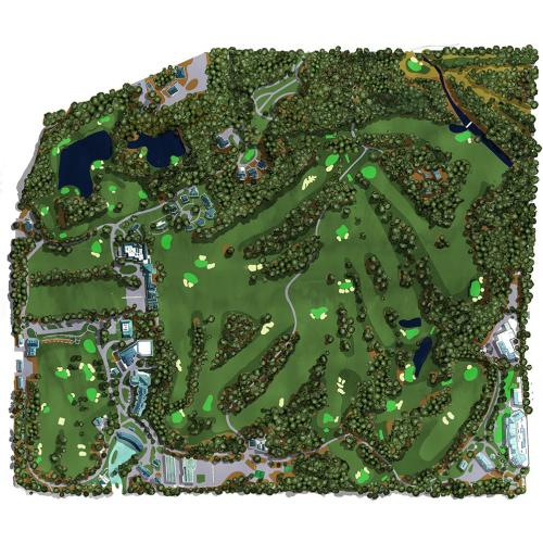 Mapping Augusta Golf Course