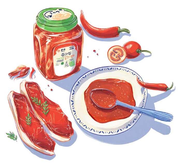 food illustration of chilli tomato sauce