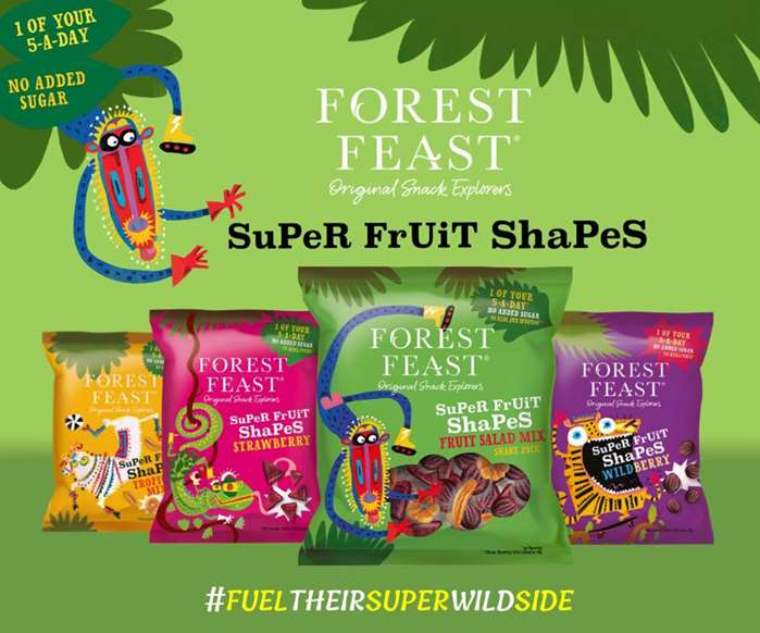 forest feast's vegan snacks package artworks