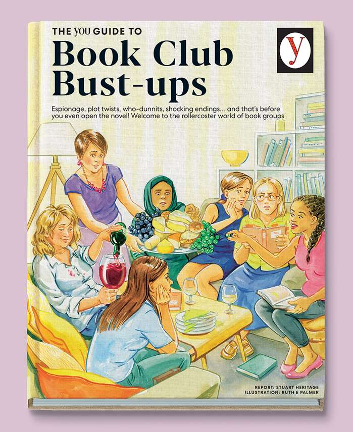 magazine cover on comical book clubs