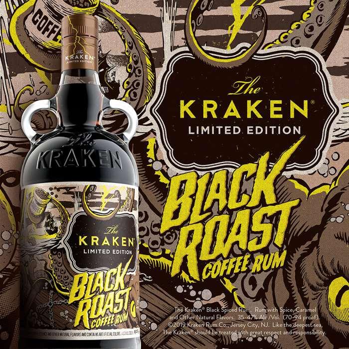 kraken rum label illustrations