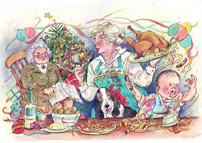 festive illustrations by John Holder