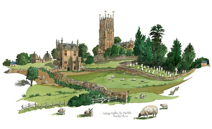 Painting of Chipping Campden in the Cotswolds