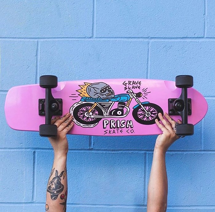 Prism Skateboards punchy designs by Gabriel Hollington