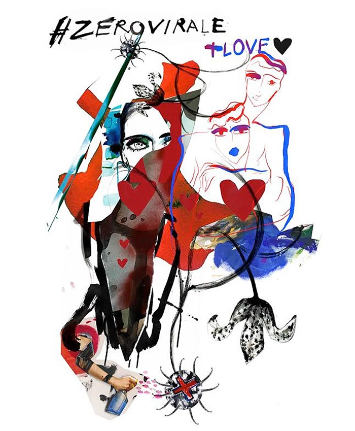 Fashion illustration for World Aids Day campaign