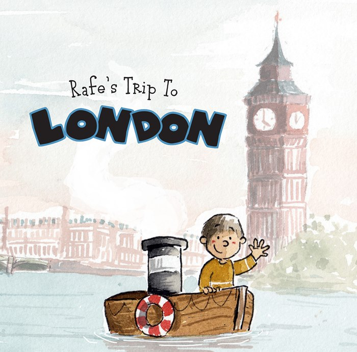 Rafe's trip to London watercolor illustration
