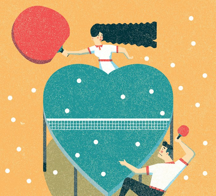 Contemporary illustration for the Family Magazine
