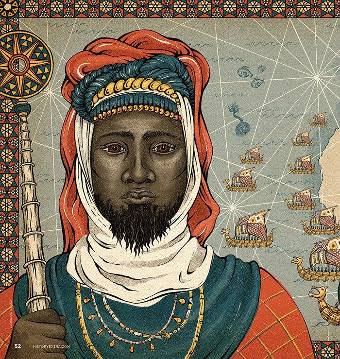 Portrait art of ruler Abubakari II