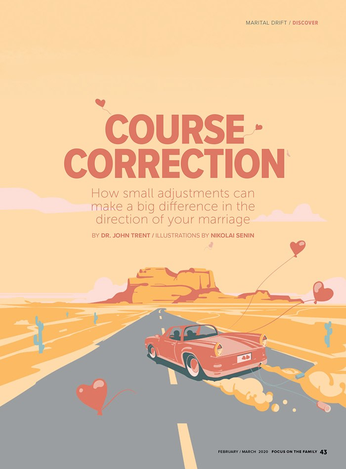 Cover page design for Marital Drift article
