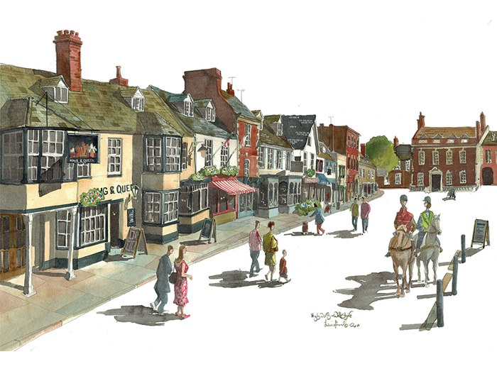 Liam O'Farrell illustrate the spirit of a Wiltshire high street