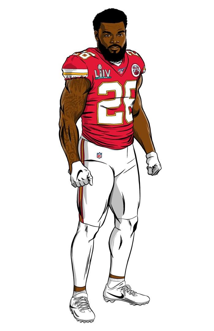 Graphic design of Kwon Alexander for NFL Super Bowl.