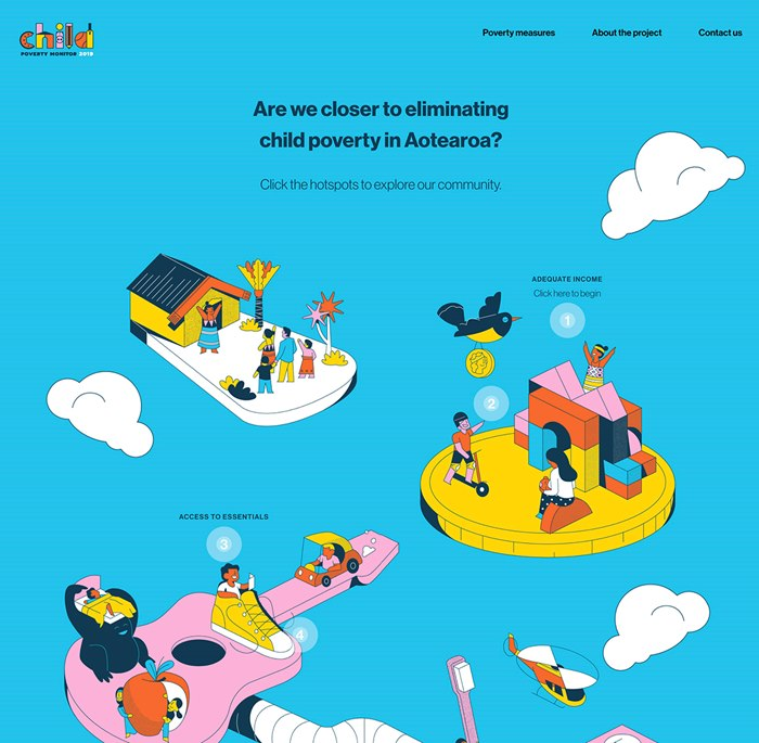 Editorial illustration for the Children's Commission website