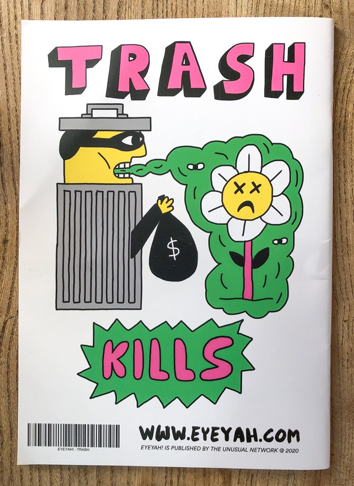 Conceptual art of trash kills for children's magazine Eyehah