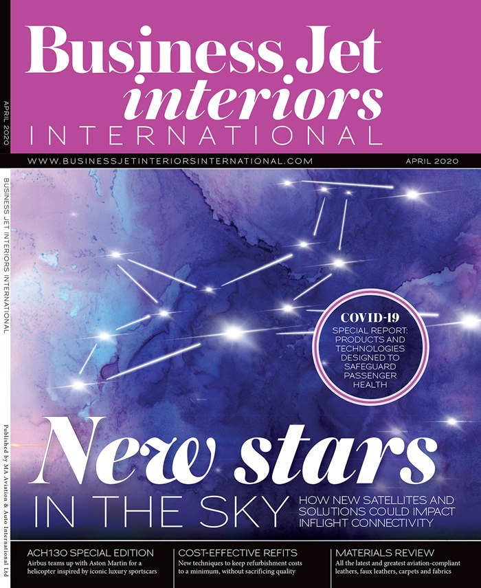 Editorial illustration of business Jet Interiors International Magazine.
