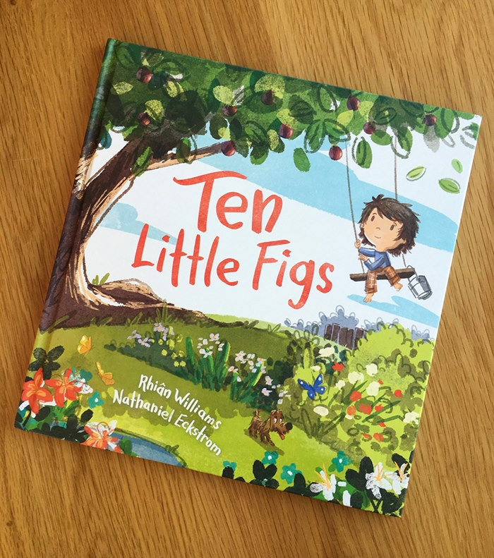 Ten Little Figs book front cover design