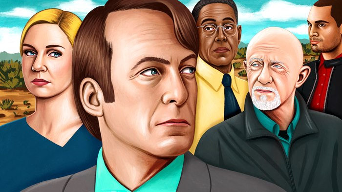 editorial illustration of hit show Better Call Saul